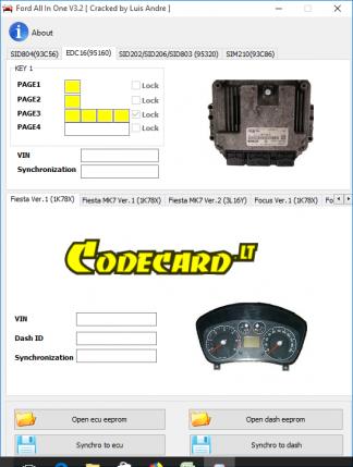 Ford All In One v3.2 ECU Dashboard Synchronization Software